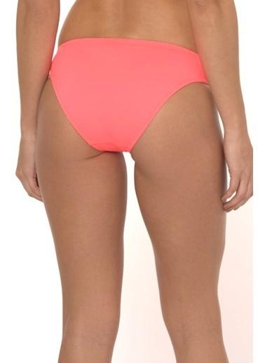 Reflections Mix Match Tünelli Büzgülü Düz Bikini Alt Kırmızı